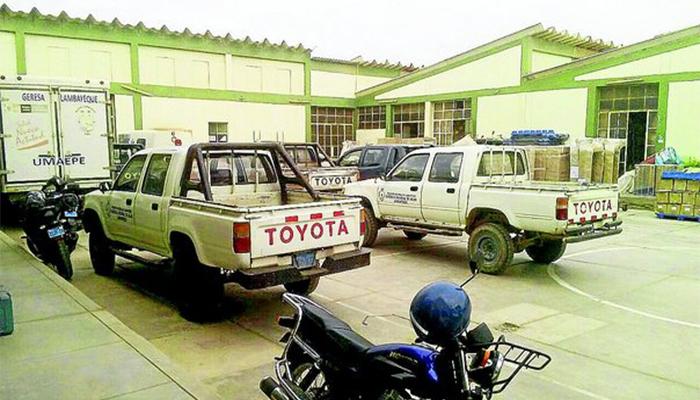 Camionetas paralizadas