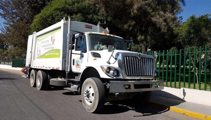 Camión compactador de basura