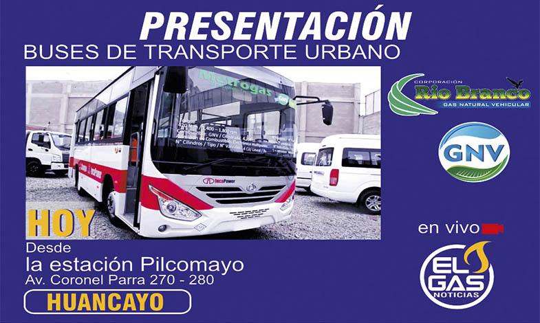 Buses a GNV en Huancayo