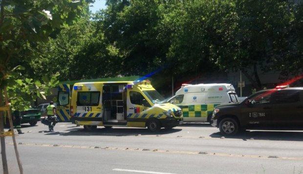Explosión en parada de bus en Santiago de Chile