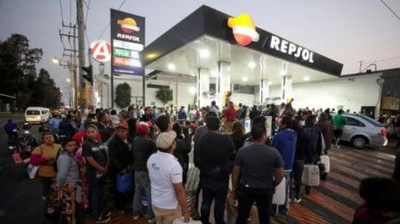 Venta de combustible en México